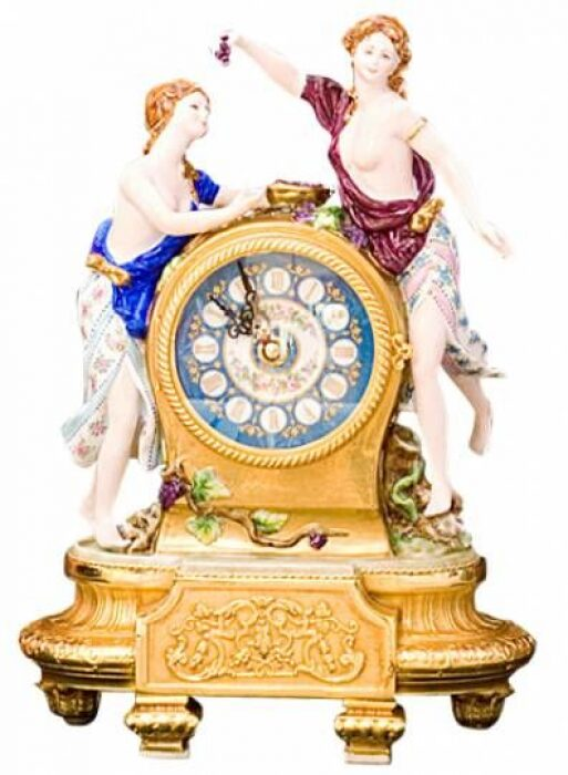 """Часы  Tiche """"Две девушки"""" , цвет: разноцветный- 0"""