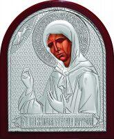 Серебряная икона Святой Блаженной Матроны Московской 9 x 11 см