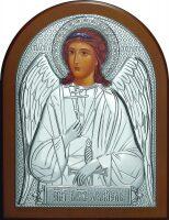 Серебряная икона Ангела Хранителя 12 x 16 см