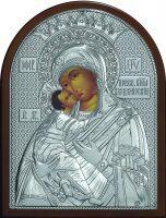 """Серебряная икона Богородица """"Владимирская"""" 12 x 16см"""