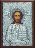 Серебряная икона Иисуса Христа Спасителя 15 x 21 см
