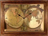 """Настенные часы  Lowell """"Mappemonde"""""""