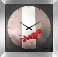 """Настенные часы  Lowell """"Fleurs rouges"""""""