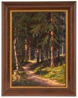 """Картина маслом """"Дорожка в лесу"""""""