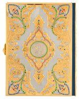 """Подарочная книга в кожаном переплете и окладе """"Коран"""" на арабском языке с камнями"""