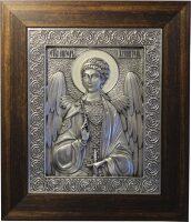 Икона серебряная Ангел-Хранитель, классический багет