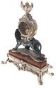 """Часы  Linea Argenti """"Лев""""  механические, на мраморной коричневой подставке, с гербом, цвет: черный- 2"""