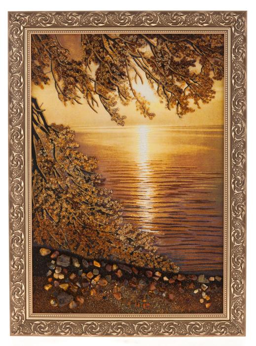 """Картина из янтаря """"Рассвет""""- 0"""