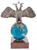 Двухглавый орел на шаре и яшме