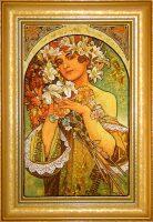 "Картина из янтаря ""Цветок"""