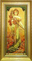 "Картина из янтаря ""Времена года - Весна"""
