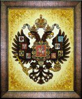 """Картина из янтаря """"Малый герб Российской империи"""""""