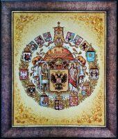 """Картина из янтаря """"Большой герб Российской империи"""""""