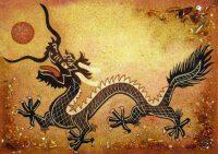 "Янтарная картина ""Китайский дракон"""