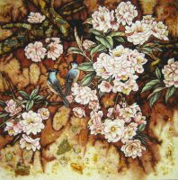 "Янтарная картина ""Чудесный сад"""