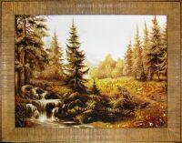 """Янтарная картина """"Лесной ручеек"""""""