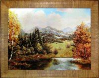 "Янтарная картина ""На берегу лесного озера"""