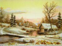 "Янтарная картина ""Зимнее утро"""