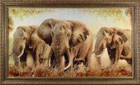 "Картина из янтаря ""Слоны"""