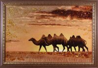 "Картина из янтаря ""Верблюды"""