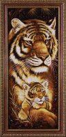 "Янтарная картина ""Тигрица с малышом"""