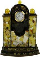 Часы-визитница из янтаря