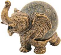 """Скульптурная композиция из бронзы """"Слон с шаром №5"""""""