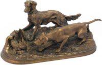 "Скульптура ""Собаки на стойке"""