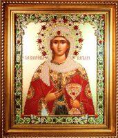 """Икона с драгоценными камнями """"Святая Варвара"""""""