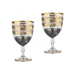 """Набор бокалов для вина  Same Decorazione """"Оникс""""  на 2 персоны"""
