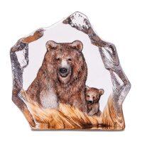 """Скульптура из хрусталя """"Бурый медведь"""""""