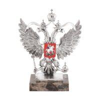 """Скульптура  Anglada """"Герб России""""  серебряная"""