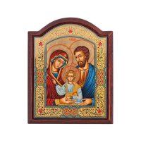 """Икона  Credan """"Святое семейство""""  с навершием"""