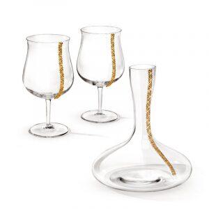 """Набор для вина  Chinelli """"Regina""""  золото"""