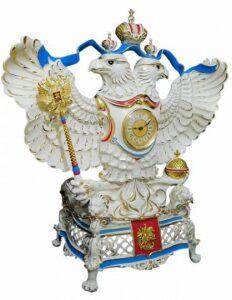 """Часы """"Державные"""", надглазурная роспись с золотом"""