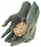 """Скульптура с часами  Anglada """"Время в твоих руках"""""""