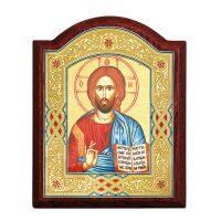 """Икона  Credan """"Христос Вседержитель""""  с навершием"""