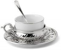 """Набор для чая  Chinelli """"Stradivari""""  на 1 персону, серебро"""