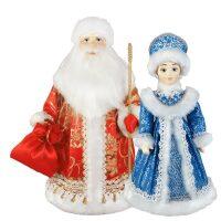 """Набор кукол под ёлку """"Дед Мороз и Снегурочка"""""""