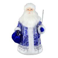 """Кукла """"Дед Мороз в синем с мешком"""""""