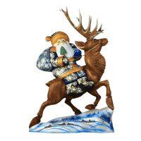 "Резная статуэтка ""Дед Мороз на олене"""
