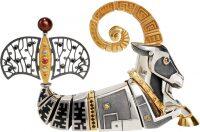 """Сувенир из серебра - знак зодиака """"Козерог"""""""