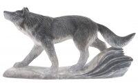 """Скульптура из камня """"Волк"""" (ангидрит)"""