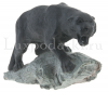 """Скульптура из камня """"Пантера"""" (талькохлорит)- 0"""