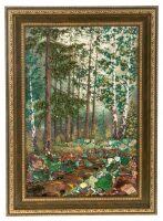 "Картина из камня ""Русский лес"""