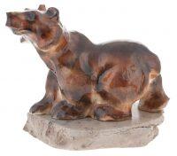 """Скульптура из камня """"Медведь"""" (селенит)"""