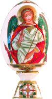 """Фарфоровое яйцо на подставке  Императорский фарфоровый завод """"Святой Ангел-хранитель"""""""