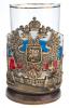 """Подстаканник латунный """"Герб флаг""""- 1"""