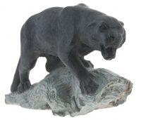 """Скульптура из камня """"Пантера"""" (талькохлорит)"""