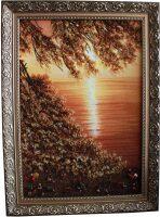 """Картина из янтаря """"Тихий рассвет"""""""